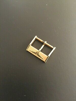 Original Vintage Longines 16mm Yellow Gold Plated Strap Buckle