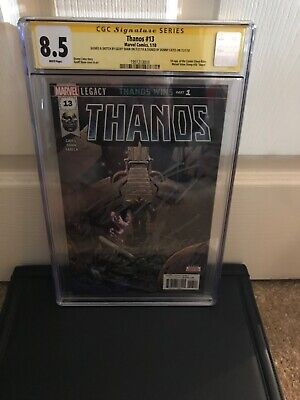 Thanos #13 CGC 1st App Cosmic Ghost Rider Signature Series Cates&Shaw 1st Print