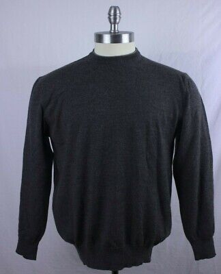 NEIMAN MARCUS Merino Wool Gray Pullover Sweater Made In Italy Size X-Large EUC