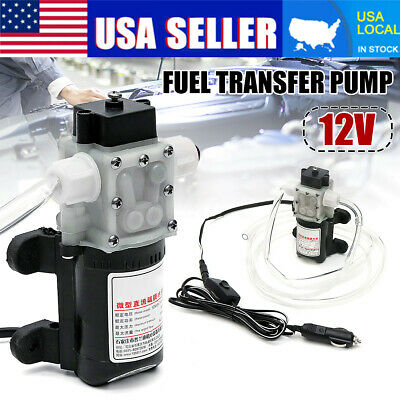 12V Fuel Transfer Pump 4L/min Oil Diesel Gas Gasoline Kerosene Car Tractor US
