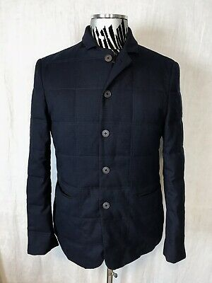EUC Vince Camuto Mens S Small Wool Blend Quilted Button Front Winter Coat Blazer