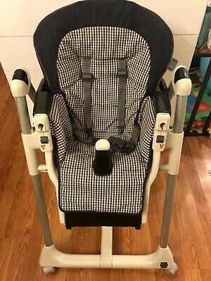Original Peg Perego Prima Pappa High Chairs seat cover cushion pad Denim Black