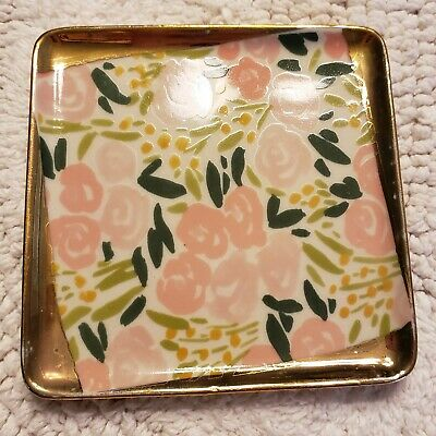 NEW ANTHROPOLOGIE TRINKET DISH JEWELRY SUMMER AT THE SEA ART EXCLUSIVE SUNBATHER
