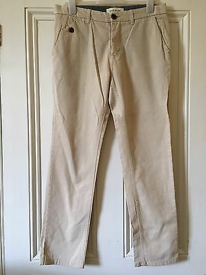 Size 32/32 River Island Beige Chino Trousers Summer/Holiday/Golf/Sport Rrp £65