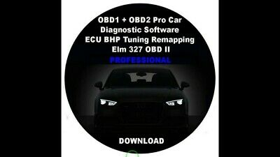 OBD1 + OBD2 Pro Car Diagnostic Software ECU BHP Tuning Remapping Elm 327 OBD II