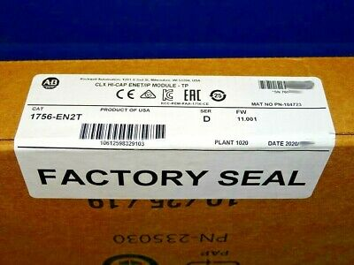 2020 FACTORY SEALED Allen Bradley 1756-EN2T Series D EtherNet/IP ControlLogix
