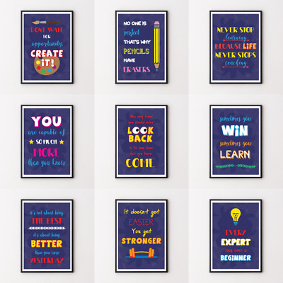 Inspirational Prints, Motivational Posters, Funny Framed Wall Art Quote A2/A3/A4