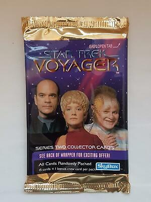 Star Trek Voyager - Series Two - Skybox Trading Cards EMPTY Packet/Wrapper #W114