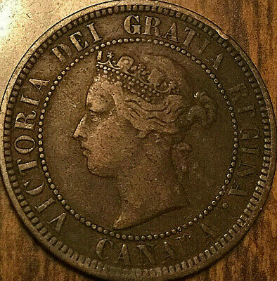 1886 CANADA LARGE CENT PENNY LARGE 1 CENT COIN - Obverse #1