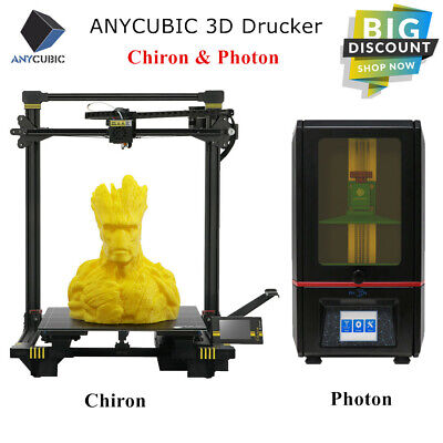 CA Anycubic SLA Photon | FDM Chiron 3D Printer UV Resin Huge Build Size PLA ABS