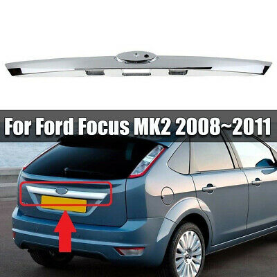 REAR TRUNK BOOT CHROME STRIP HANDLE MOLDING COMPATIBLE WITH FORD FOCUS MK2 08-11