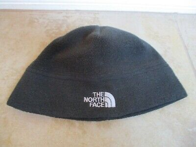 The North Face Black Dark Gray Fleece Beanie, Hat For Women One Size