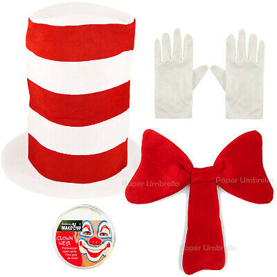 Adults Cat in the Hat Fancy Dress Costume Book Week Day outfit Dr Seuss