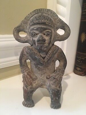 Possibly Pre-Columbian Ancient Artifact Clay Statue Sculpture Aztec Mayan