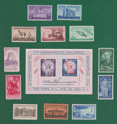 US 1956 Commemorative Year Set Complete - Including SS MNH  FREE SHIPPING