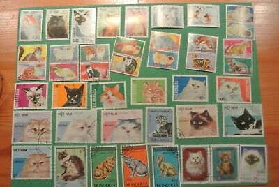 Assorted 66 Cat Stamps
