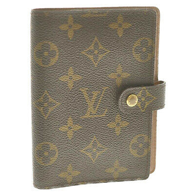 LOUIS VUITTON Monogram Agenda PM Day Planner Cover R20005 LV Auth kh280