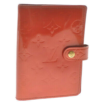 LOUIS VUITTON Vernis Agenda PM Day Planner Cover Rouge R21003 LV Auth cr507