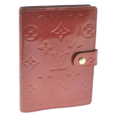 LOUIS VUITTON Vernis Agenda PM Day Planner Cover PommeD'amour R21016 LV cr506