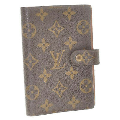 LOUIS VUITTON Monogram Agenda PM Day Planner Cover R20005 LV Auth cr504 **Sticky