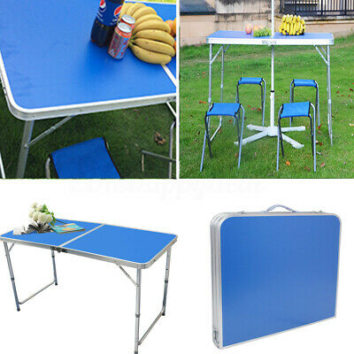 4FT Aluminum Portable Adjustable Folding Table Camping Picnic Party BBQ 120cm
