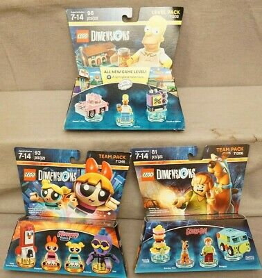 Lego Dimensions Homer Simpson or Powerpuff Girls or Scooby-Doo New In Box