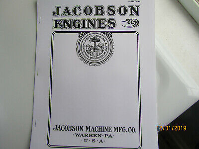 Jacobson Gasoline Engines Catalog, 2 1/2HP to 16HP Gas and Kerosene Types Pics!
