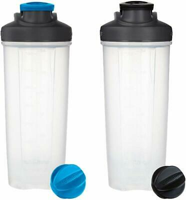 Contigo Shake And Go Fit Shaker Bottle 2 Pack Black and Carolina Blue 28 oz NEW!