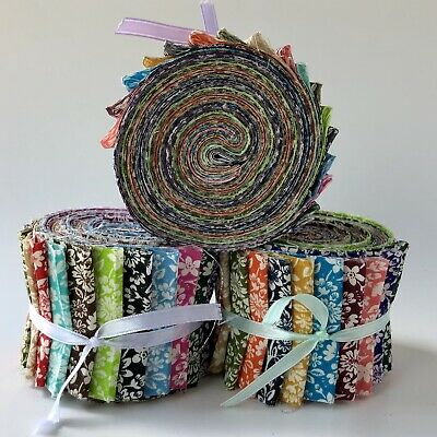 "10 2.5/"" Pre Cut Jelly Roll Quilt Quilting Strips 100/% Cotton Marbleicious Tonal"