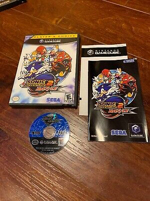 Nintendo Sonic Adventure 2 Battle GameCube 2002 COMPLETE IN BOX Good Shape