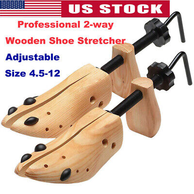 Professional Adjustable 2-way Wooden Shoe Stretcher for Men/Women Size 4-12