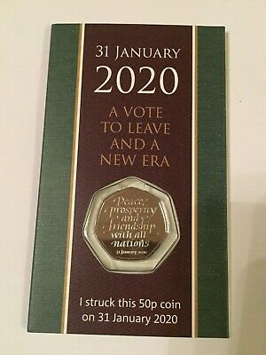Strike Your Own Withdrawal From EU 31st Brexit 50p Fifty Pence SYO Coin RM UK