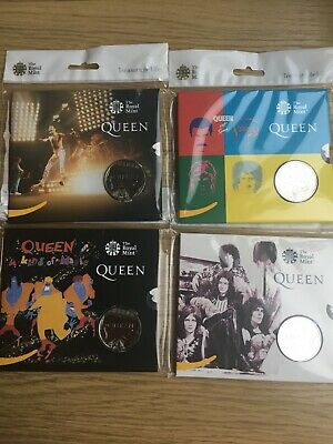 4 X 2020 Queen £5 Coin -Hot SPACE/KIND OF MAGIC/LIVE LIMITED EDITION & BU Set RM