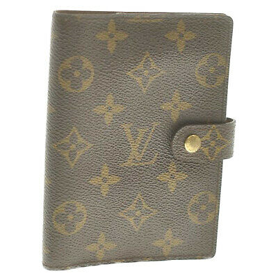 LOUIS VUITTON Monogram Agenda PM Day Planner Cover R20005 LV Auth th212