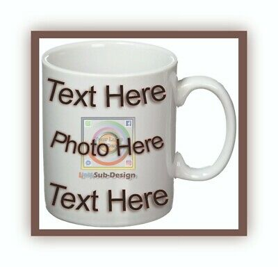 Personalised Picture Photo Text Mug Cup Custom Design Gift Birthday Present