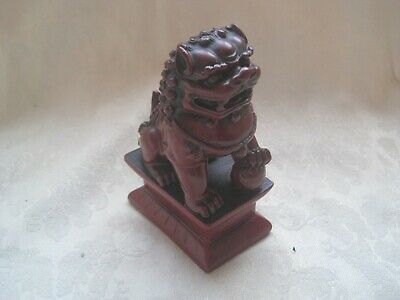 VINTAGE ORNAMENT Red DOG of WAR Oriental JAPANESE Chinese ORIENTAL