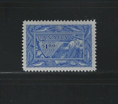 Canada - #302 - $1 Fisherman Vf Mint Stamp Fishing Resources Mnh