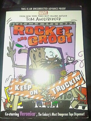 Rocket and Groot: Keep on Truckin'!  by Tom Angleberger Uncorrected Advanced Pro