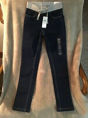 Justice Girls Mid Rise Knit Waist Super Skinny Jeans Size 7 Slim Soft & Stretchy