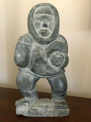Rare Vintage Inuit Carved Stone Eskimo Sculpture