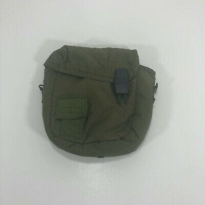 US Military Surplus ~ 2 Quart Collapsible Water Canteen Green Carrying Bag