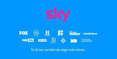 1 mes SKY video streaming - fox tnt historia disney nickelodeon tcm calle13 -