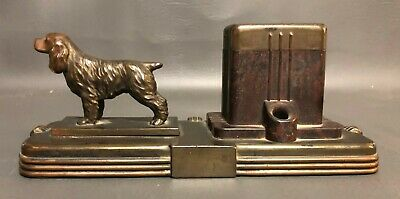 Vintage Irish Pointer Irish Setter Pen Stand Inkwell