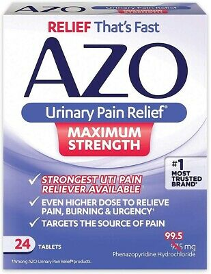 Urinary Pain Relief (AZO) - Max Strength - 36 Tablets (3 Packs) - Exp: 04/2021