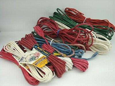 Lot of Paper Twist Bow Making Craft paper NOS 1991 Red, Green, White, Blue