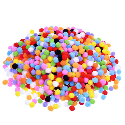 2000 Pieces 8 mm Pom Poms for Hobby Supplies and DIY Creative Crafts Assorted