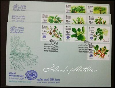 Sri Lanka Stamp World Wetland Day 2020 First Day Cover Set