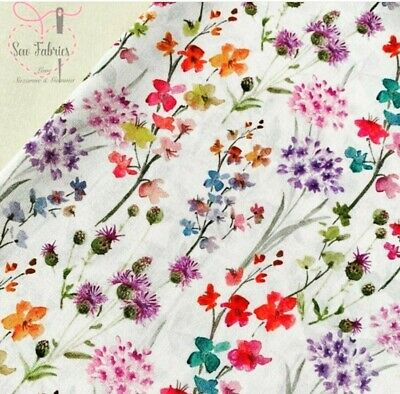 John Louden Spring Floral Fabric 100/% Cotton Material by Metre fat quarter