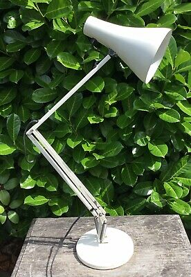 Old Vintage Retro 1970s Anglepoise Model 90 Off White Industrial Work Table Lamp