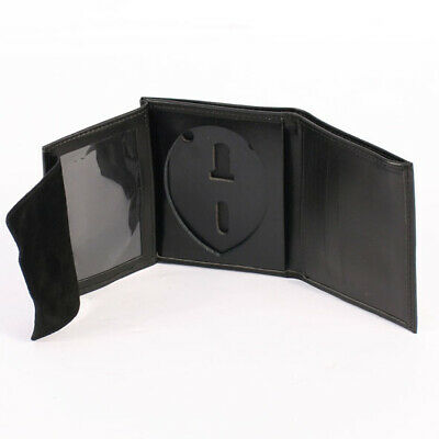 US Police Leather ID and Police Shield holder and Money Wallet LAW515